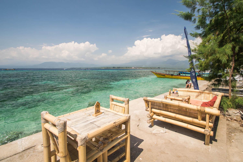 Resto de plage, Gili Air, Bali