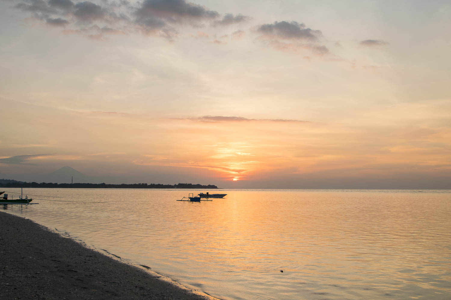Sunset sur Gili Air, Bali