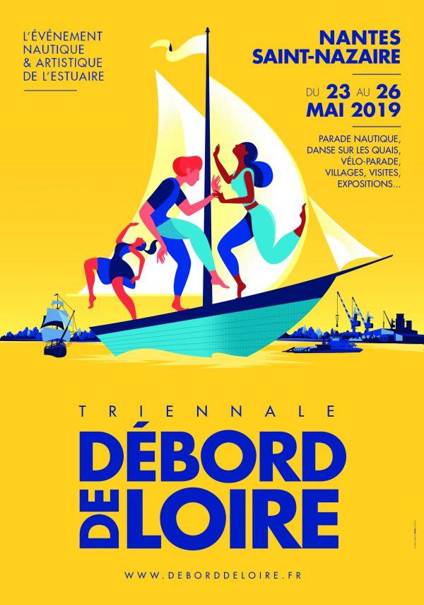 Affiche Débord de Loire 2019 - Que faire à Nantes cet été ?