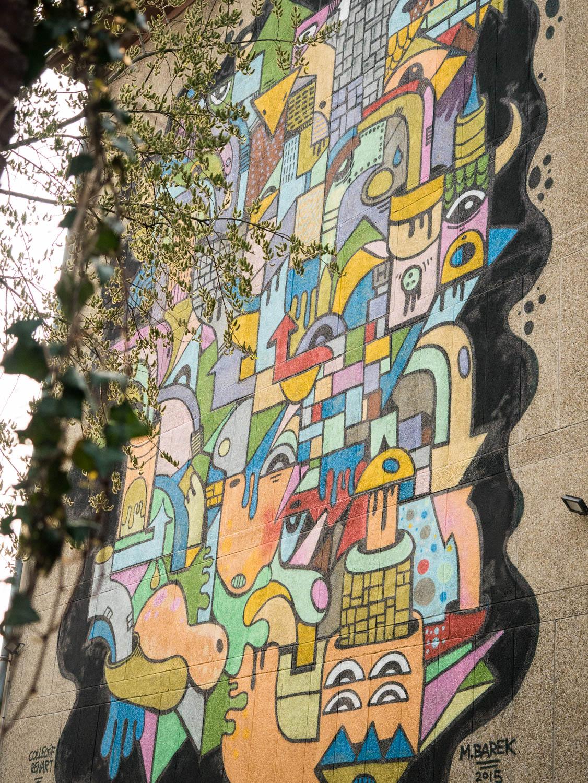 Graff de M.Barek pour le Collectif Renart (BIAM 2015 - Gare Saint Sauveur)