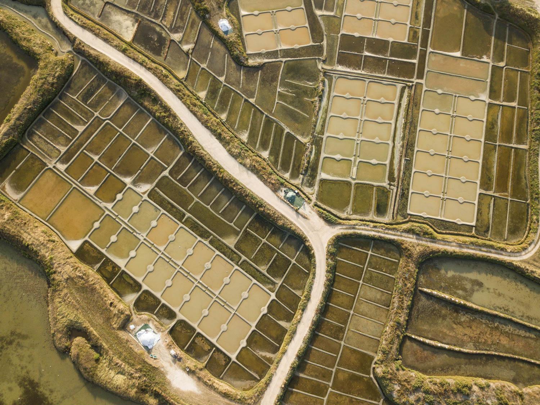 Marais Salants de Guérande vus du ciel